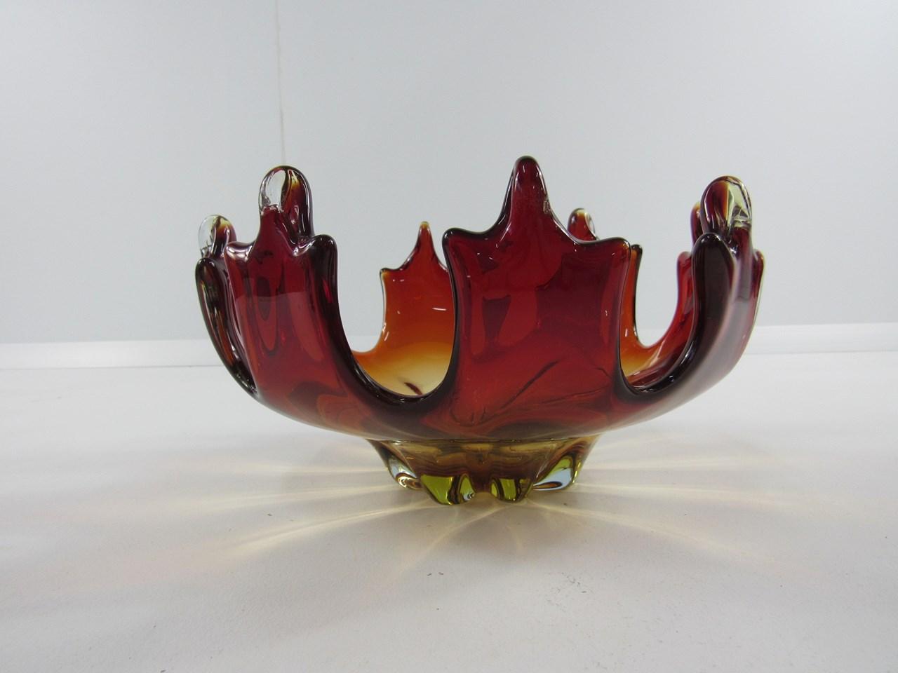 Murano Rot ~ Murano kristallblock feuerzeug rot gelb überfangen shop kusera