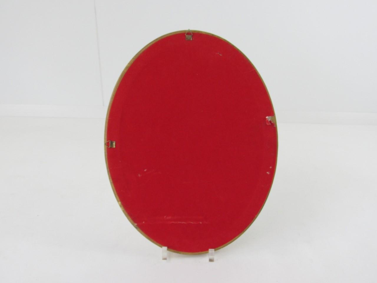 kleiner ovaler spiegel mit goldrahmen 35 x 45 cm sammlerparadies24. Black Bedroom Furniture Sets. Home Design Ideas