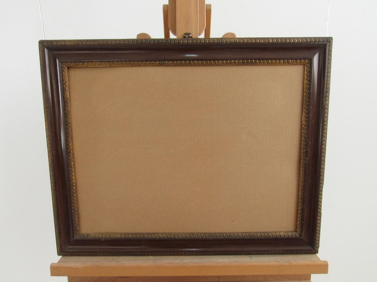 Antik Schellack Bilderrahmen, Braun & Gold - Sammlerparadies24