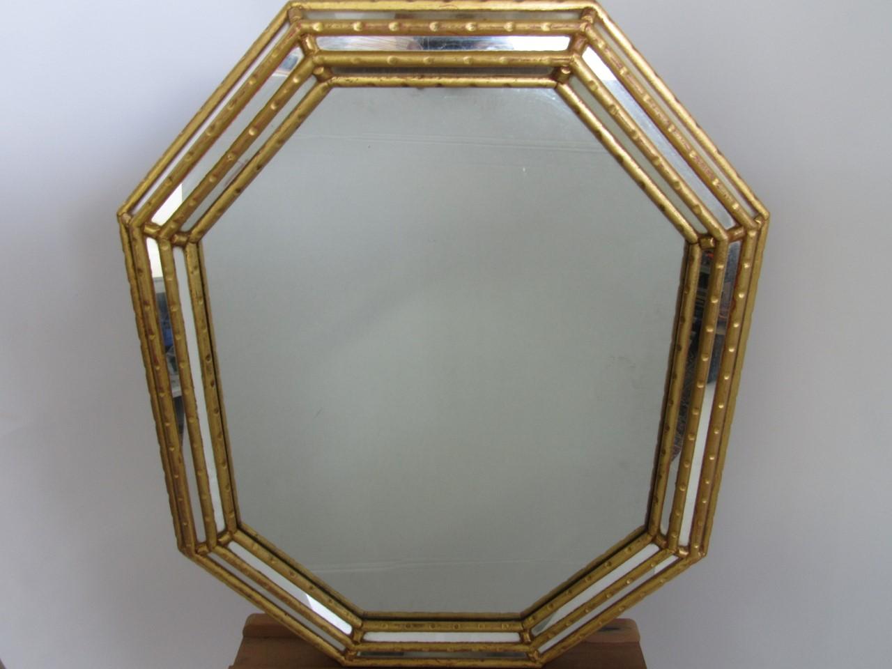 Prunkvoller Spiegel nach antikem Vorbild • Gold • 8-eckig ...