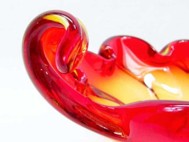 Murano Rot ~ Murano glasschale rot & orange ☆ im onlineshop kaufen sofort